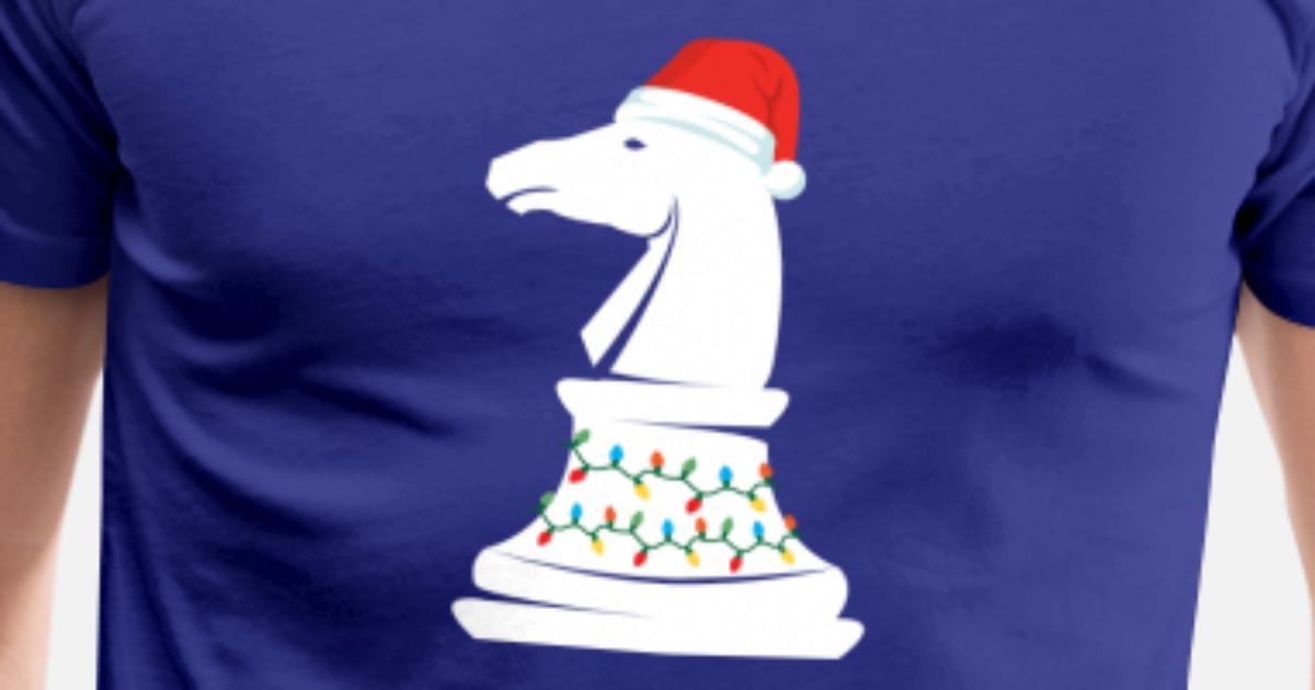 Weihnachtsschach Pferd Mann Sankt Hut Weihnachten von ReutMor ...