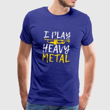 Jeg PLAY HEAVY METAL - Herre premium T-shirt