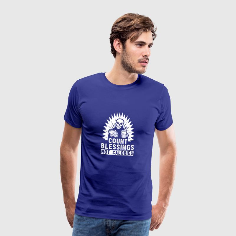Count Blessings Not Calories Food Gift - Men's Premium T-Shirt