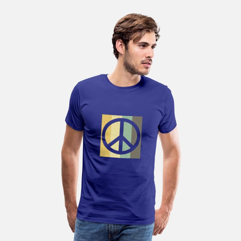 Peace T-Shirts - Peace Sign - World Peace Birthday gift - Mannen premium T-shirt koningsblauw