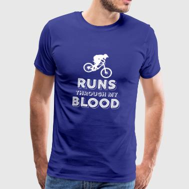 Mountain biking - mountain biking - mountain bikers - Men's Premium T-Shirt