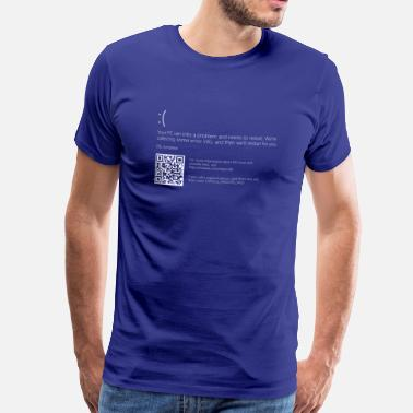 Screen Windows 10 Blue Screen - Men's Premium T-Shirt