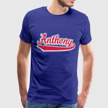 Anthony - Name as a sport swash. - Men's Premium T-Shirt