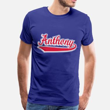 Name Anthony Anthony - Name as a sport swash. - Men's Premium T-Shirt