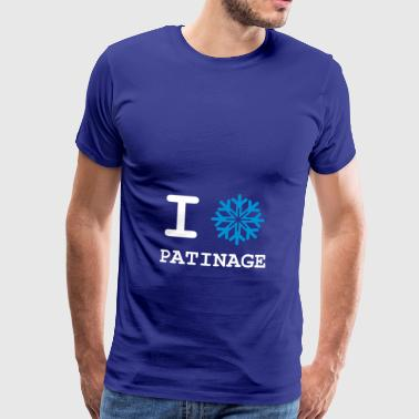I Love Patinage - T-shirt Premium Homme