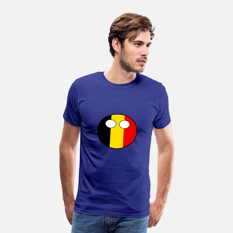 Ball T-Shirts - Countryball Country Ball Country Home Belgium - Men's Premium T-Shirt royal blue
