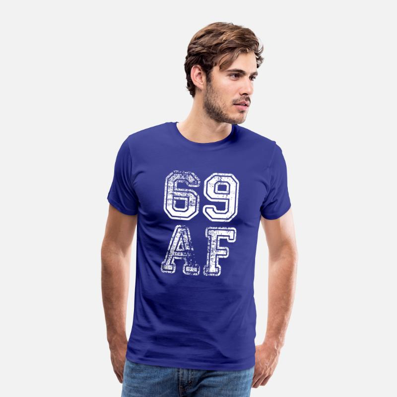 Born In Febuary T-Shirts - 69 AF - Men's Premium T-Shirt royal blue