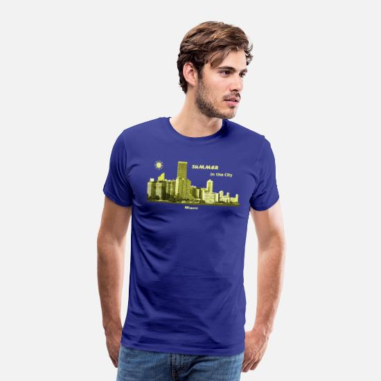 Florida T-Shirts - Summer Miami City Florida USA - Männer Premium T-Shirt Königsblau