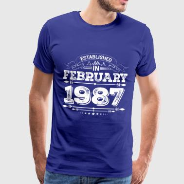 Established in February 1987 - Männer Premium T-Shirt