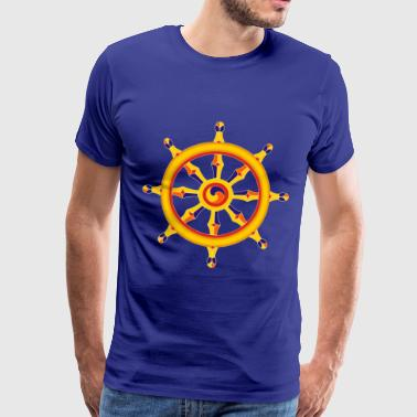 Wheel of Dharma - Premium T-skjorte for menn