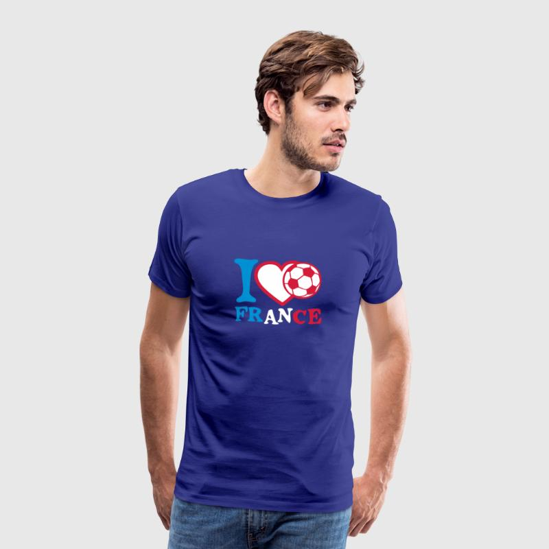 i love coeur france foot ballon drapeau - T-shirt Premium Homme