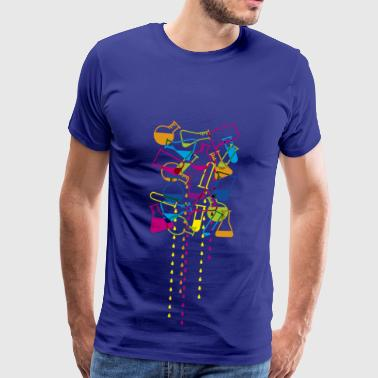 test tubes fluid long drops - Men's Premium T-Shirt