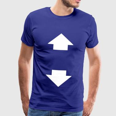 arrow up and down - Männer Premium T-Shirt