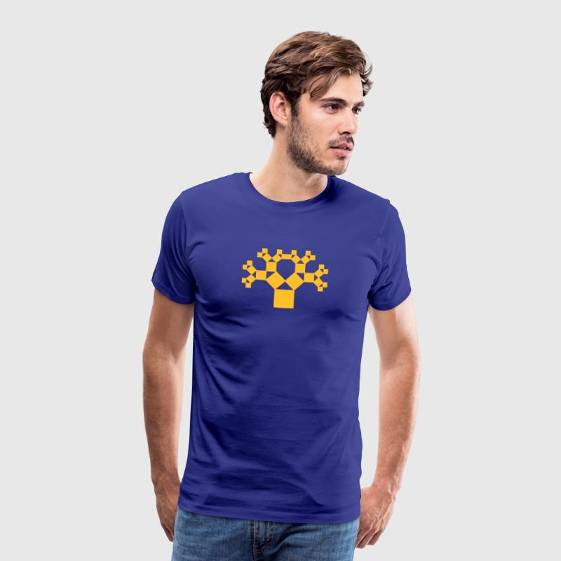 Pythagoras tree, fractal - patterns of creation - Men's Premium T-Shirt