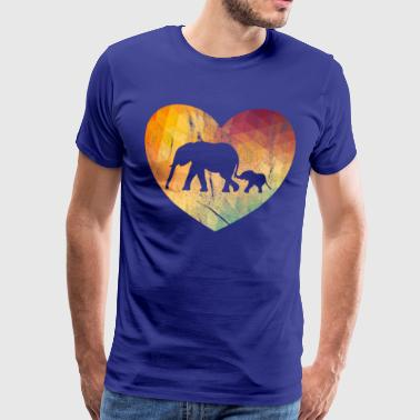 Retro Elephant Lover - Premium T-skjorte for menn