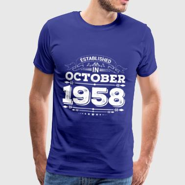 Established in October 1958 - Men's Premium T-Shirt