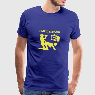 I Multitask Beer - Men's Premium T-Shirt