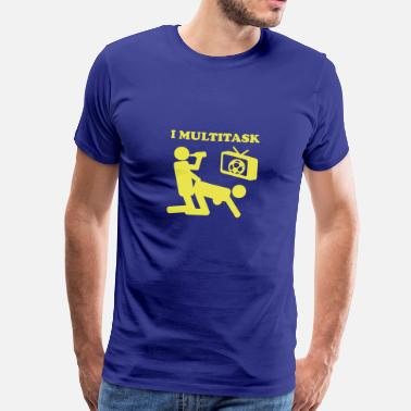 Football I Multitask Beer - Men's Premium T-Shirt