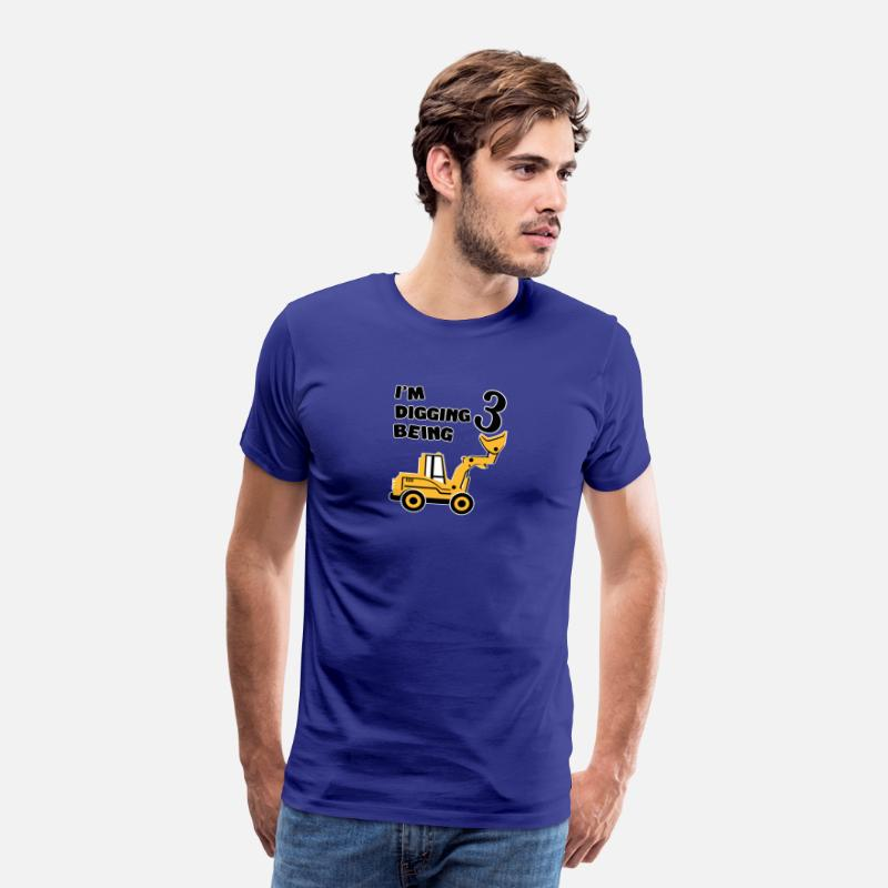 Classic Since 2014 And Still Rocking T-Shirts - I m digging being 3 - Men's Premium T-Shirt royal blue