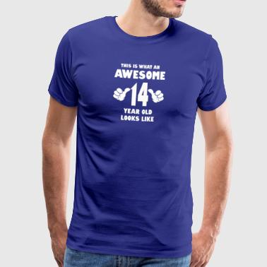 This is what an awesome 14 year old looks like - Men's Premium T-Shirt