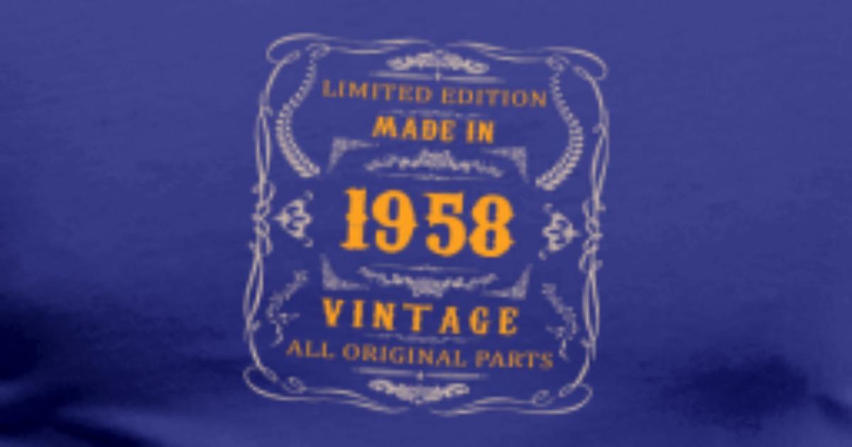 1958 Anniversaire Vintage De Ebenblatt Spreadshirt