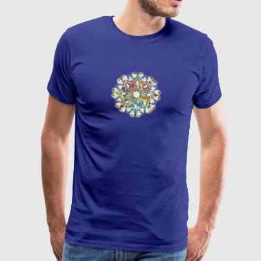 Flower Power - Herre premium T-shirt