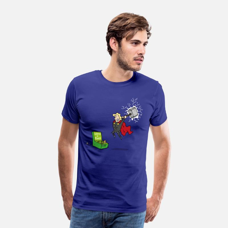 Hammer T-Shirts - Thor God of Whack a Mole - Men's Premium T-Shirt royal blue