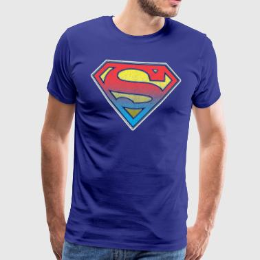 DC Comics Originals Superman Retro Logo - Premium-T-shirt herr