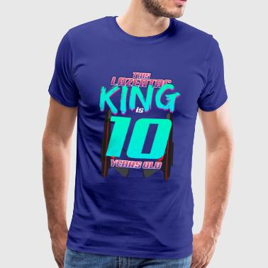 Lasertag - This King Is 10 Years Old - Men's Premium T-Shirt