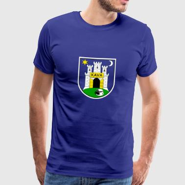 Zagreb blazon Kava - Men's Premium T-Shirt