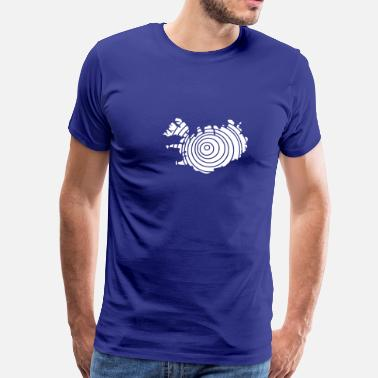 Iceland Iceland Island Flag map - Men's Premium T-Shirt