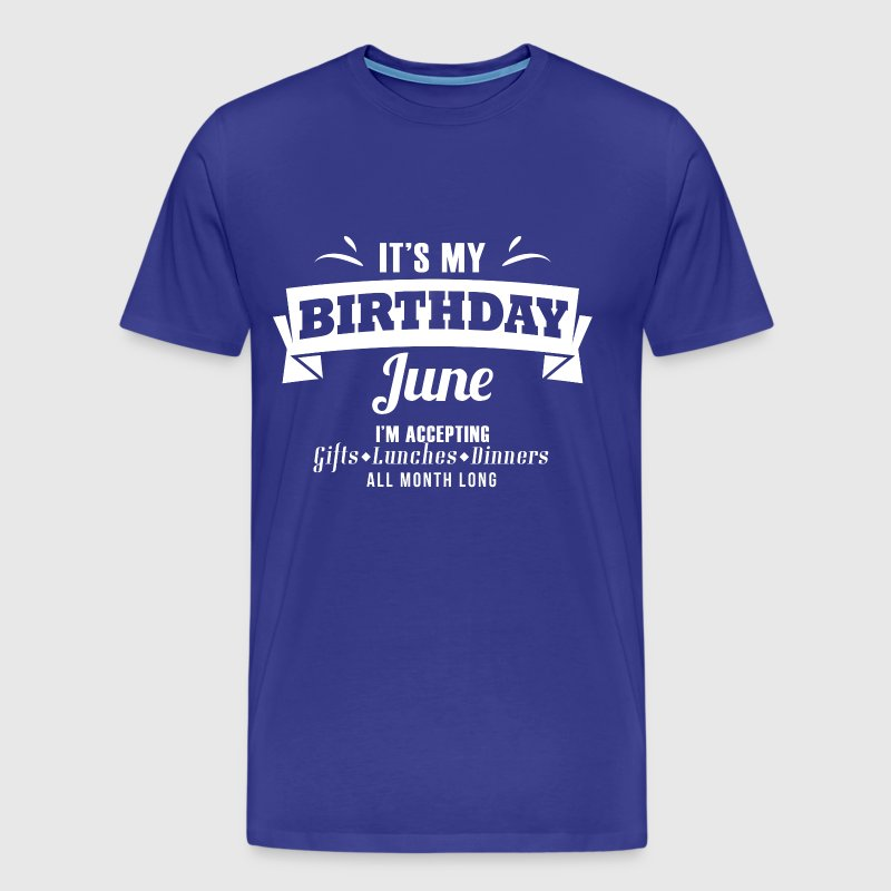 June Gemini Birthday Gift - Men's Premium T-Shirt