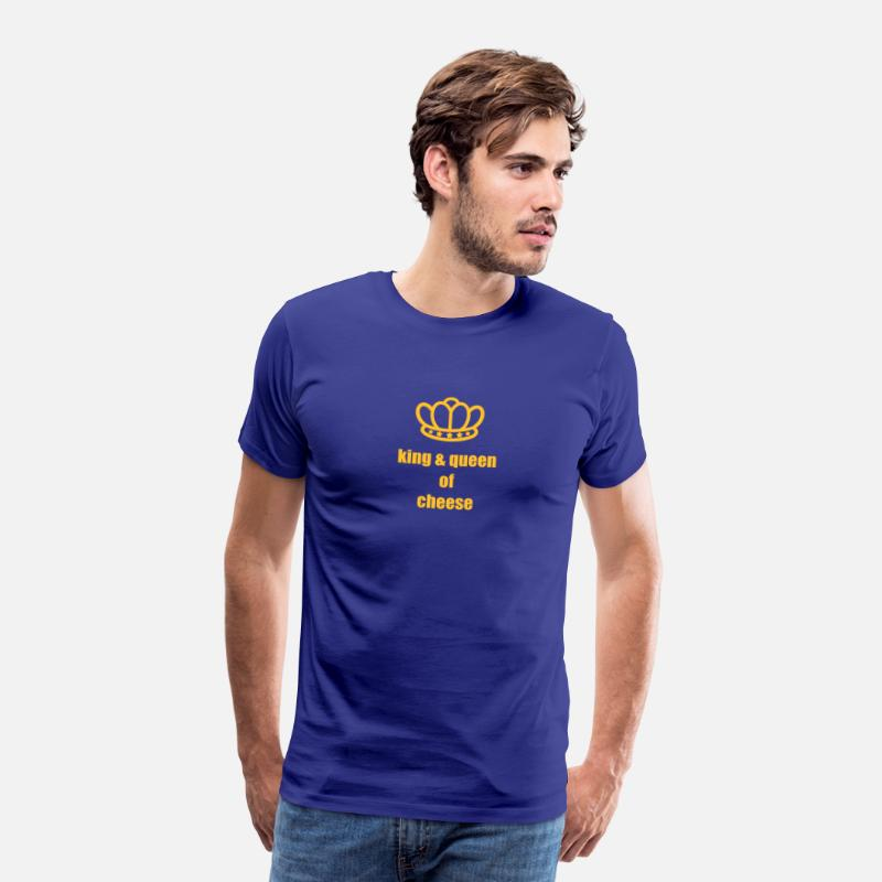 Cow T-Shirts - King & Queen of Cheese - Men's Premium T-Shirt royal blue