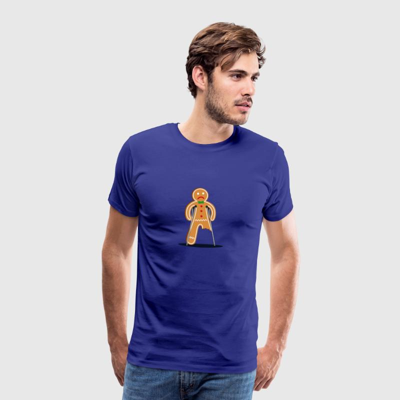 gingerbread man hurt (blue) - Men's Premium T-Shirt