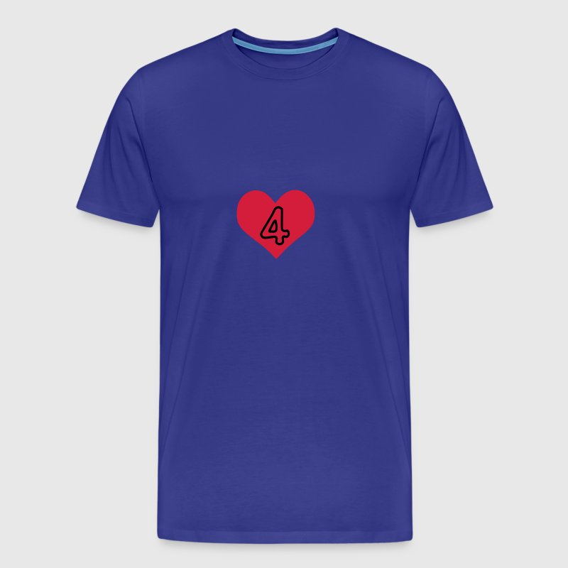 Number 4 & Heart  - Men's Premium T-Shirt