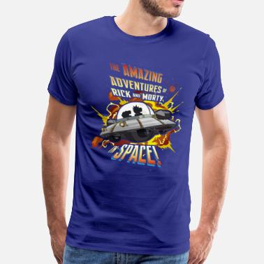 Cool Rick and Morty Amazing Adventures in Space - Mannen Premium T-shirt