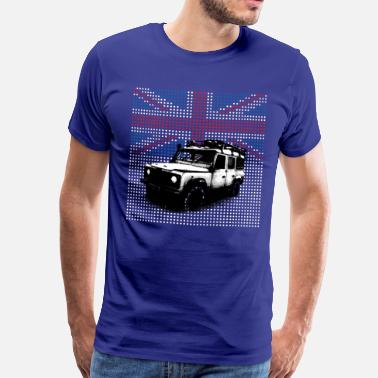Defender Union Jack Landie Defender - Autonaut.com - Men's Premium T-Shirt