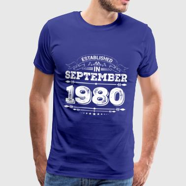 Established in September 1980 - Men's Premium T-Shirt