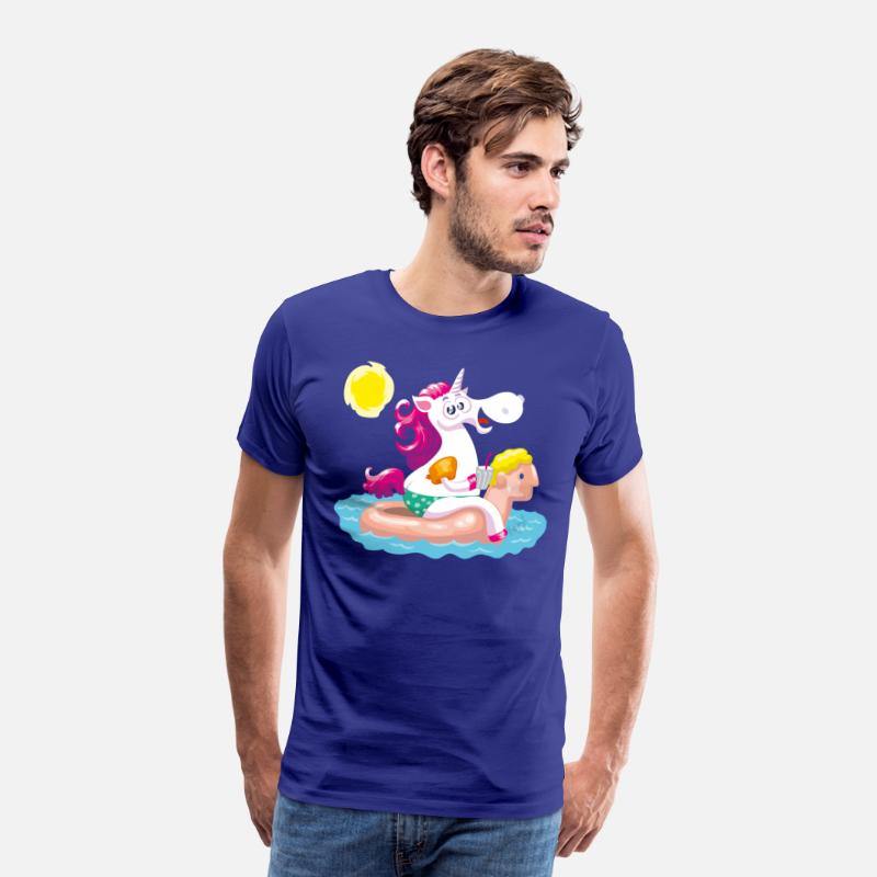 Collections T-shirts - Unicorn water animal inflatable - Premium T-shirt herr kungsblå