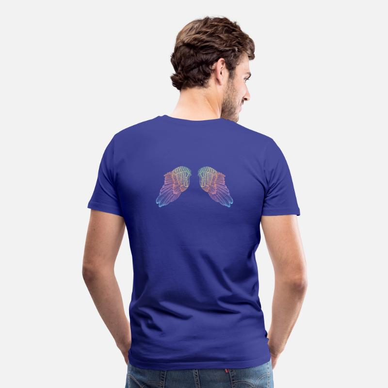Angelwings T-Shirts - Rainbow Coloured Angel Wings - Men's Premium T-Shirt royal blue