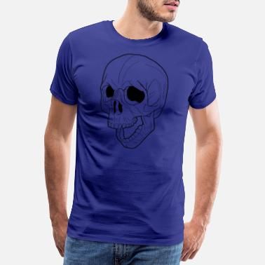 Yell Screaming Skull 02 black - Men's Premium T-Shirt