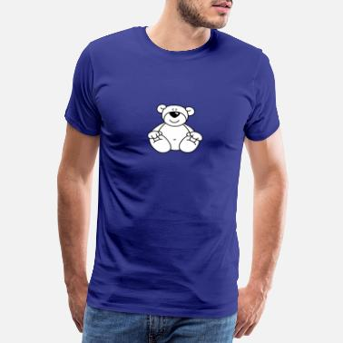 Knurring Nice Polar Bear - Premium T-skjorte for menn