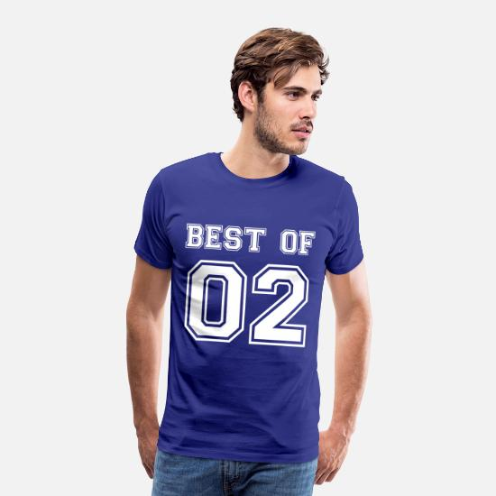 2002 T-Shirts - Best of 2002 birthday birth year saying 17 year - Men's Premium T-Shirt royal blue