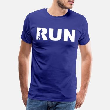 Course run - letters with man - T-shirt premium Homme