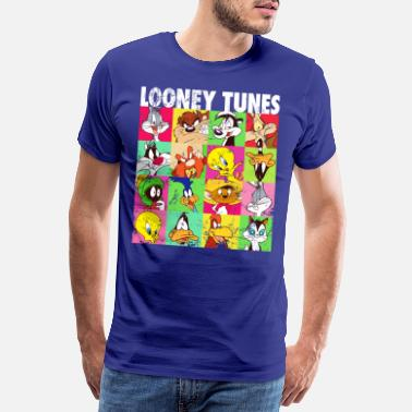 Looney Tunes Characters Collage - Premium T-shirt mænd