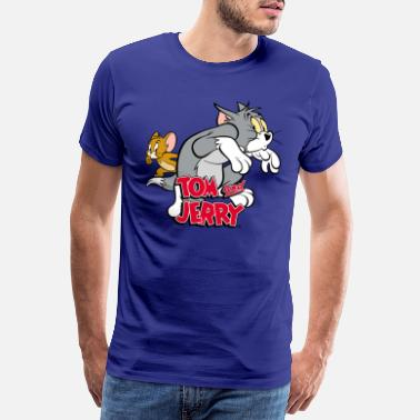 Tom Tom and Jerry Tiptoeing - Premium T-skjorte for menn