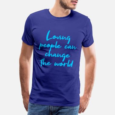 Ganesha Loving people can change the world light blue - Men's Premium T-Shirt