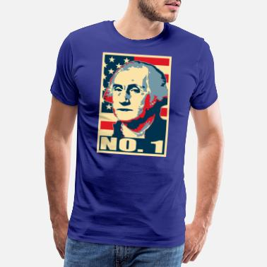 President George Washington nr. 1 - Premium T-skjorte for menn