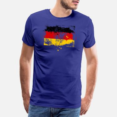 Schland Flag Germany flag grunge graffiti style - Premium T-shirt mænd