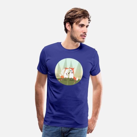 Mariage T-shirts - fox marriage - T-shirt premium Homme bleu roi
